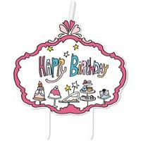 Kaarsje Happy Birthday Jill