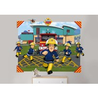Behang Brandweerman Sam 3d Walltastic: 121x152x15 cm