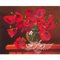 Red Poppies Diamond Dotz: 51x41 cm