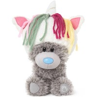 Pluche Me to You my dinky bear unicorn hat 19 cm