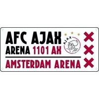 Nummerplaat ajax wit/rood/wit Arena