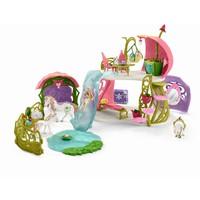 Glitterbloemenhuis met eenhoorns Schleich 42445