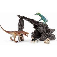 Dino set met grot Schleich