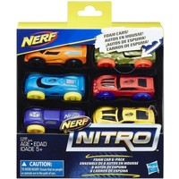 Nitro Foam Car Nerf: 6-pack