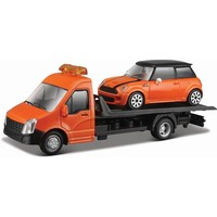 Vrachtauto Bburago Transporter + Mini schaal 1:43