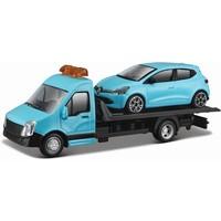 Vrachtauto Bburago Transporter + Renault schaal 1:43