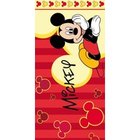 Badlaken Mickey Mouse lines: 70x140 cm