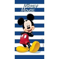 Badlaken Mickey Mouse stripes: 70x140 cm