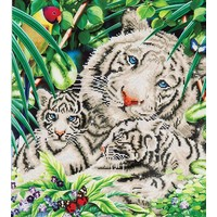 White Tiger en Cubs Diamond Dotz: 52x52 cm