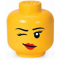 Opbergbox Lego: head girl winking small