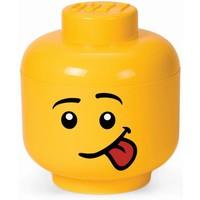 Opbergbox Lego: head boy silly small