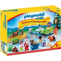 1.2.3 Adventskalender Kerst in dierenbos Playmobil