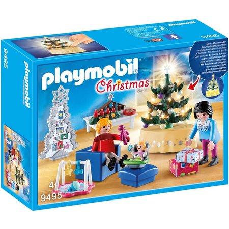 Woonkamer in kerststijl Playmobil - SinQel