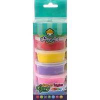 Funny Gummy Airfoam putty Claydoll: 6x 20 gram