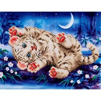 Baby Tiger Roly Poly Diamond Dotz: 35x27 cm