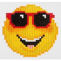Smiling Face Diamond Dotz: 10x10 cm