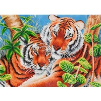 Tender Tigers Diamond Dotz: 52x37 cm