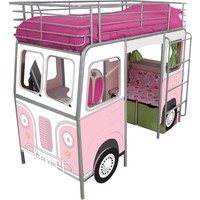 Hoogslaper bed roze 220x105x169 cm