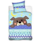 Dekbedovertrek ledikant Sweet Dreams hond 100x135/40x60 cm