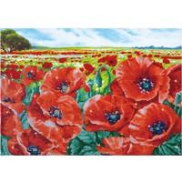 Red Poppy Field Diamond Dotz: 60x42 cm