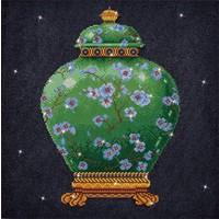 Green Vase Diamond Dotz: 52x52 cm