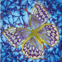 Flutterby Silver Diamond Dotz: 30x30 cm