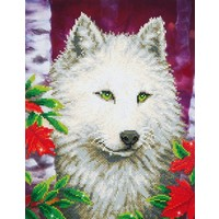 White Wolf Diamond Dotz: 46x35 cm
