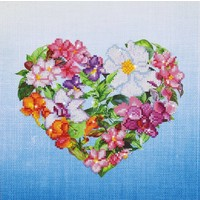 Flower Heart Diamond Dotz: 37x37 cm