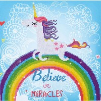 Believe in Miracles Diamond Dotz: 35x35 cm