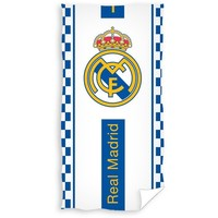 Badlaken real madrid wit/blauw blocks 70x140 cm