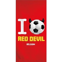 Badlaken Belgie Red Devil 70x140 cm