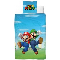 Dekbedovertrek Nintendo Mario/Luigi 140x200/60x70 cm