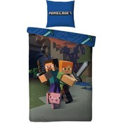Dekbedovertrek Minecraft 140x200/60x70 cm