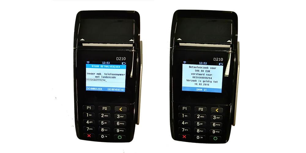 betaalverzoek voor mobiele pinautomaten