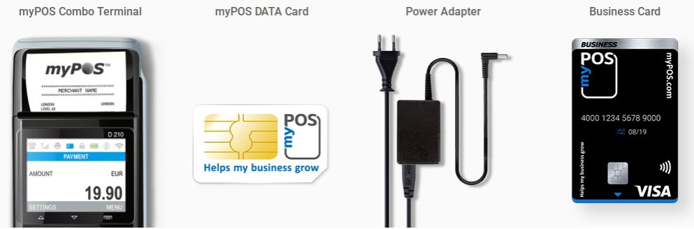 Alles wat nodig is om contactloze NFC betalingen te acceptaren: betaalterminal, lader, simkaart