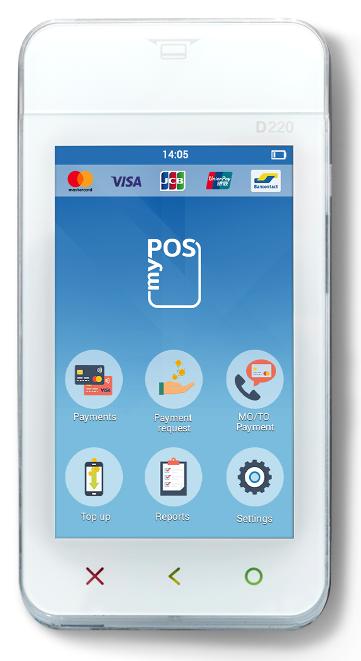 de myPOS mini ICE design betaalterminal met simkaart en NFC