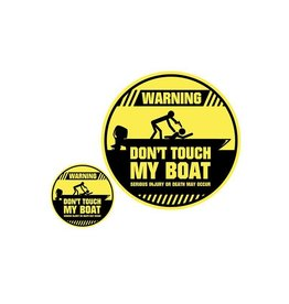 Don't touch my Boat sticker