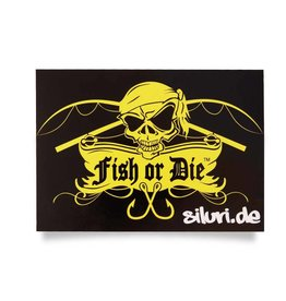 Fish or Die® etiqueta engomada