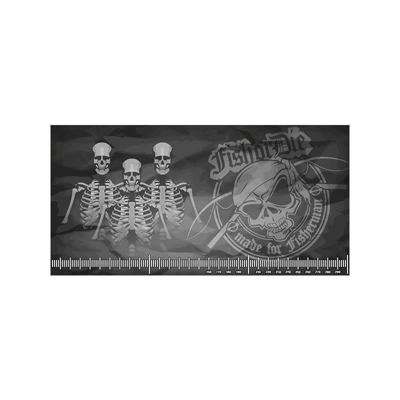 Fish or Die® mat décrochage 300x150 Skull