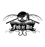 Fish or Die® autocollant coupe