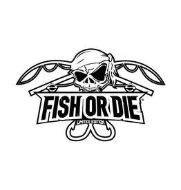 Fish or Die® sticker cut