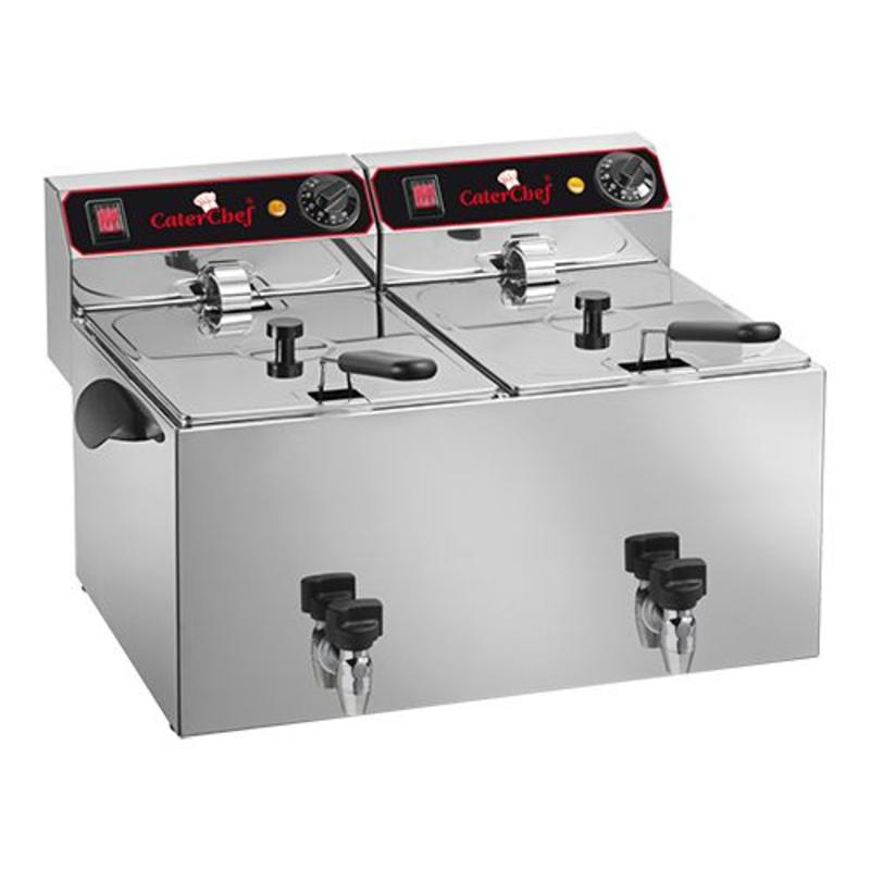 CaterChef Friteuse CaterChef - 9+9 liter + tap