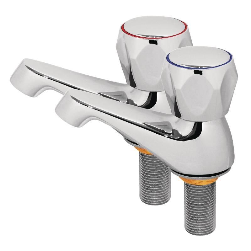 Kranen voor handen wasbak RVS  2 stuks  HorecaRama # Wasbak Kranen_132611