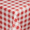 Tafellaken - PVC rood wit - 135x225cm