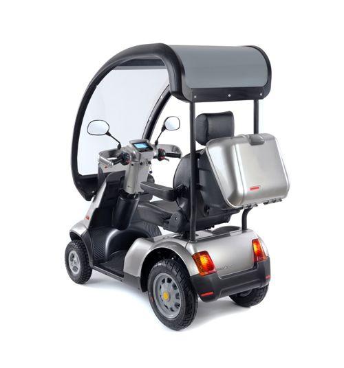Luxe scootmobiel Afikim Breeze S4 met overkapping