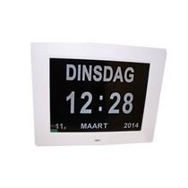 Digitale Kalenderklok met tijd, dag en datum aanduiding