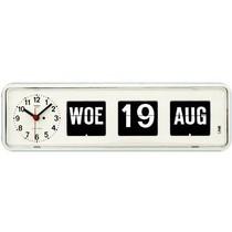 Kalender Klok Nederlands Wit