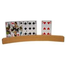Speelkaartenhouder hout 35cm