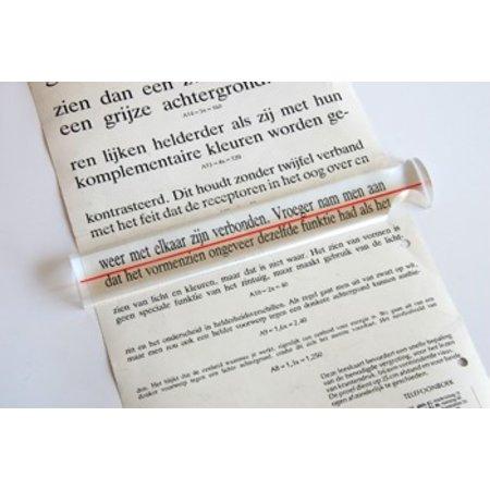 Schweizer leesliniaal 20 cm, 1,8 x vergroting
