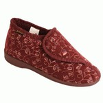 Dunlop Verbandpantoffels - Pantoffels Betsy Burgundy (vrouw)
